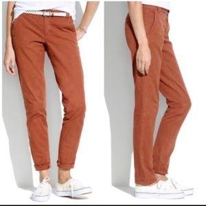 Madewell canvas Rivington trousers sz 6
